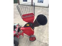 Countax mower mounted chipper
