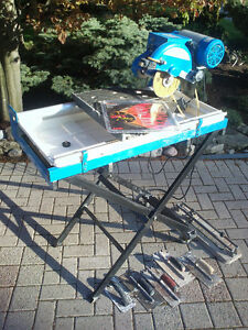 "10"" Wet Tile Cutter / Saw with Stand (bonus 8"" new blade + more)"