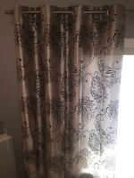 MOVING SALE! 2 Elegant Curtain Panels for the Price of 1!
