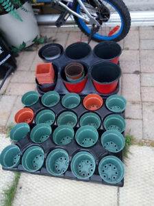 many flower planters/pots  for sale ___________________________