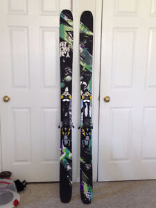 Atomic powder skis with touring bindings for sale!