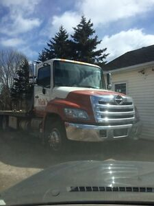 2012 hino 258 LCG 21 ft century 12 series  tow truck flatbed