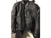RST slice leathers two piece men's leathers