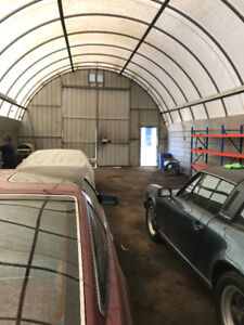 fenced  storage lot with 25ft x50 ft quonset