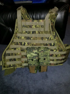 Airsoft Cadpat plate carrier and accessories