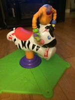 Fisher price bouncy/spin zebra