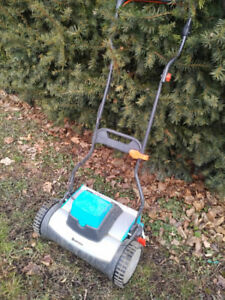 $75 obo Gardena battery powered reel mower possible trade