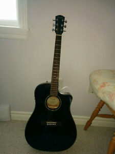 CD-60CE Acoustic/Electric - Black with Case