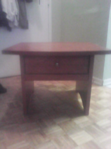 Great piece of furniture solid wood end table $25 asap