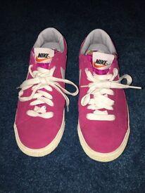 Pink Nike blazer shoes