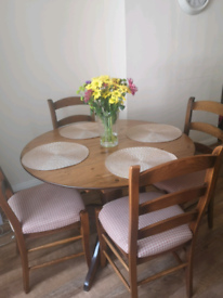 M&S Dining table and 4 chairs