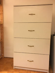 Filing Cabinet is laminate over wood, decorative, custom made