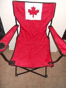 Red Maple leaf folding chair.
