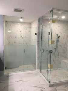 10mm Tempered Glass Shower Door & Stairs & Mirror