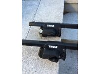 Thule 1200mm locking quick release roof bars for cars with rails