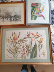 3 pictures/art - 2 prints & 1 painting by Susan Thomson £15 lot