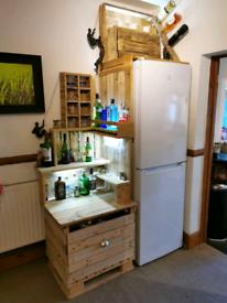 Hand made, Pallet Bar, drinks cabinet, fridge surround £90 ono