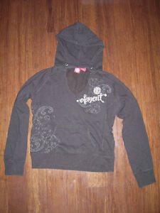 Brown Element Skateboard Hoodie Tag Size Large L Ladies