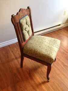 Lady's Antique Upholstered Chair