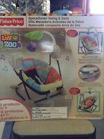 Fisher price luv u zoo space saver swing an seat