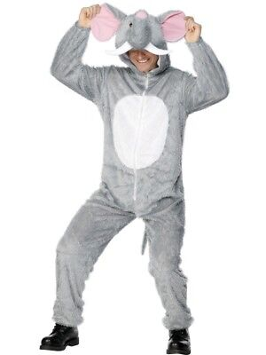 Adult's Elephant Costume Zoo Animal Fancy Dress Ladies Mens Funny Outfit](Zoo Animals Costumes)