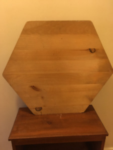 Hexagonal slab of wood for crafting