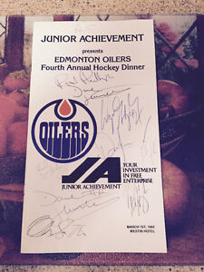 FOR SALE!!!!- autographed 1982-83 Edm Oilers