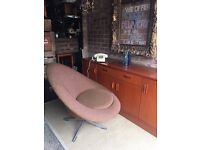 1960s SWIVEL CHAIR LONGE ARMCHAIR FREE DELIVERY VINTAGE