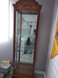 Decorative Wood and Glass Display Cabinet