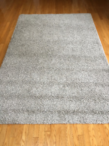 IKEA ALHEDE - Rug, high pile, off-white - 160x240 cm