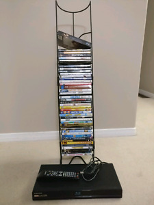 Blu ray player with movies