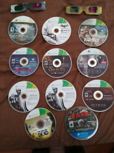 10 xbox 360 games + 1 PS4 game