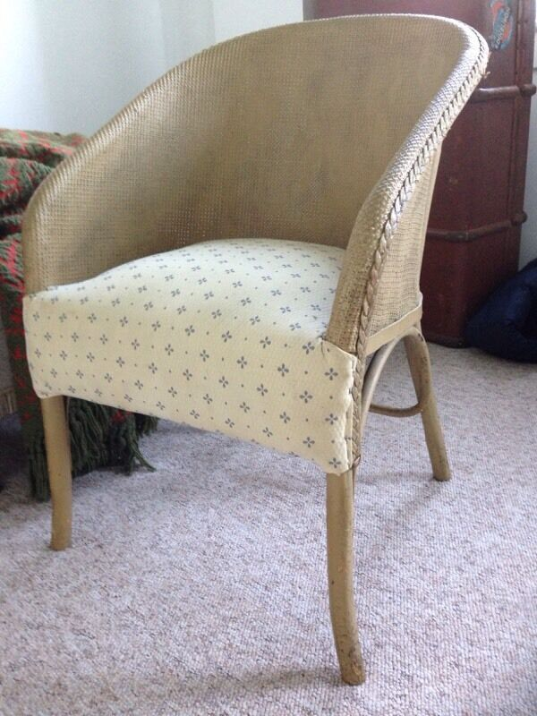 Gold Lloyd Loom Upholstered Bedroom Seat In Parkhead