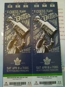 Leafs VS. Pittsburgh Penguins April 8th