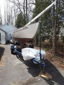 23 foot Bluenose sailboat one-design with cuddy cabin