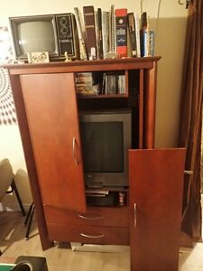 Solid wood entertainment cabinet London Ontario image 2