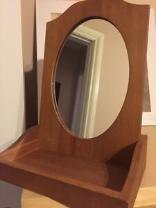 Wooden Desk Mirror
