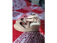 Brand new canvas wedge shoes size 4