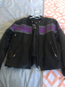 125 for all Ladies small motorcycle jacket , chaps and boots