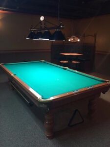 Pool table installation or refelting in southeastern NB