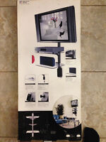 3 LEVEL GLASS TV COMPONENT SHELF SYSTEM BRAND NEW IN BOX