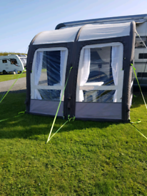 KAMPA MOTOR RALLY AIR PRO 260 L AWNING WITH CURTAINS/ ROOF LINER PUMP