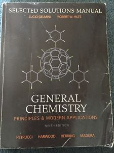 GENERAL CHEMISTRY 9TH EDITION & selected solutions manual