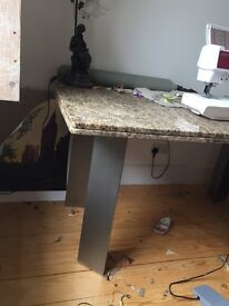 Marble dining kitchen table marble slab