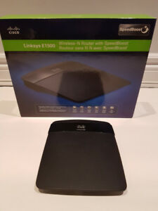 LINKSYS E1500 CISCO WIRELESS N ROUTER WITH SPEEDBOOST.