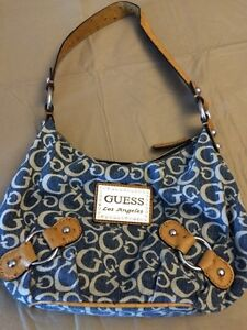 Blue guess shoulder bag