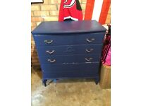 Navy set of drawers possible refurb upcycle project