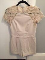 Bcbg beige lace detail jumper size 2