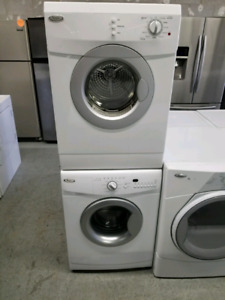 WHIRLPOOL APARTMENT SIZE WASHER & STACKABLE DRYER