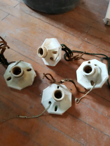Used light fixtures-various styles